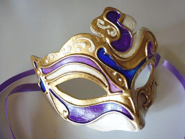 画像1: イタリア ヴェネツィア カーニバル マスク 【カラー・パープル】