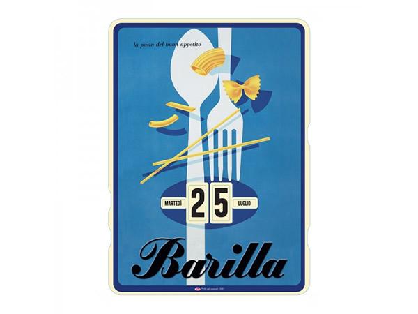 画像1: 万年カレンダー BARILLA - POSATE - イタリア インテリア【カラー・ブルー】