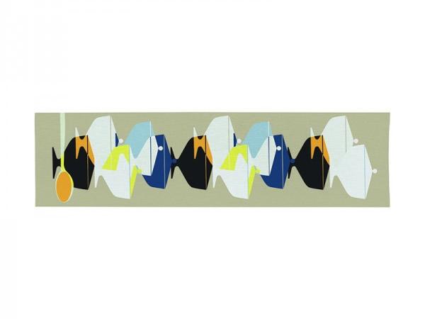 画像3: 3柄展開 BARILLA テーブルランナー 150 x 44 cm バリッラ【カラー・ブルー】【カラー・イエロー】【カラー・マルチ】