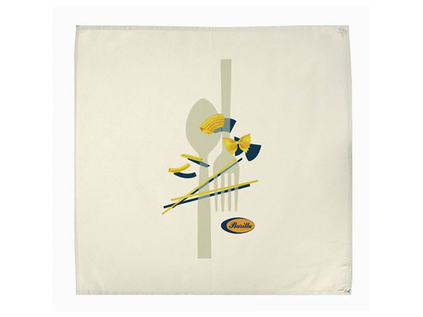 画像1: 3柄展開 BARILLA 布巾 60 x 70 cm バリッラ【カラー・ブルー】【カラー・イエロー】【カラー・マルチ】