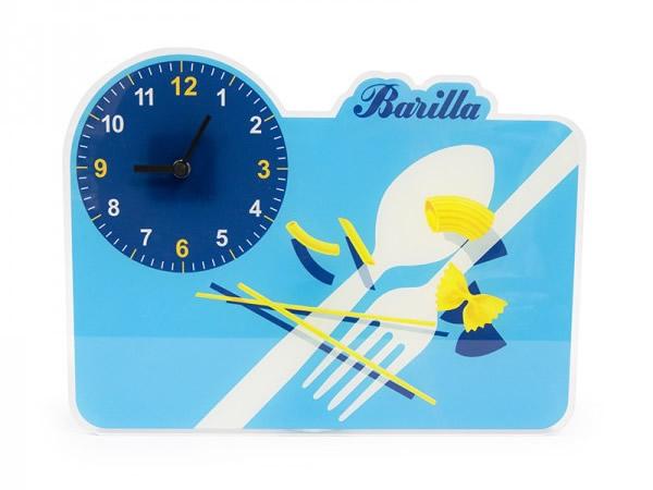 画像1: 2柄展開 BARILLA 壁掛け時計 40 x 30cm バリッラ【カラー・ブルー】【カラー・イエロー】【カラー・マルチ】