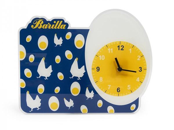 画像2: 2柄展開 BARILLA 壁掛け時計 40 x 30cm バリッラ【カラー・ブルー】【カラー・イエロー】【カラー・マルチ】