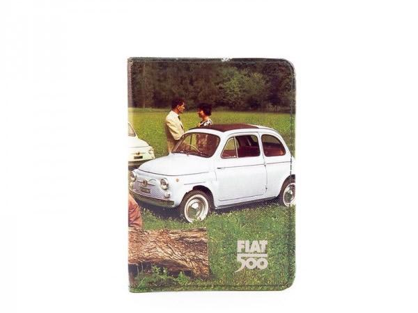 画像2: 2柄展開 FIAT パスポートケース フィアット【カラー・グリーン】【カラー・ レッド】