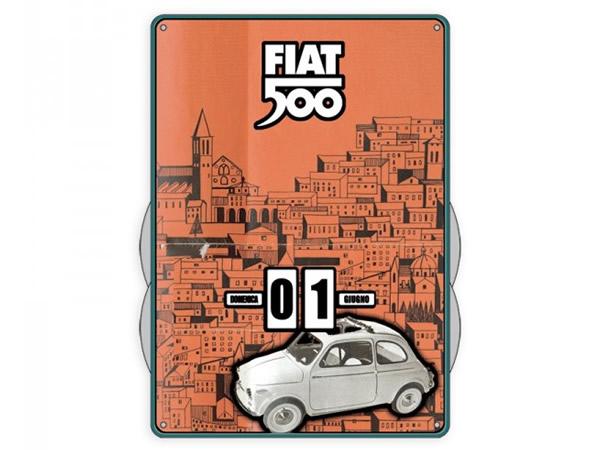 画像1: 万年カレンダー フィアット FIAT 500 - BIANCA - イタリア インテリア【カラー・オレンジ】