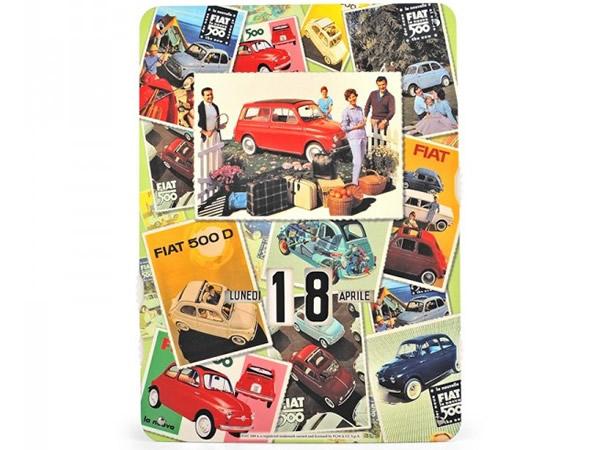 画像1: 万年カレンダー フィアット FIAT 500 - MIX - イタリア インテリア【カラー・マルチ】