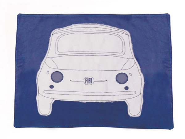 画像1: 4色展開 FIAT 500 ランチプレート プレースマット フィアット【カラー・ブルー】【カラー・レッド】【カラー・イエロー】【カラー・グリーン】【カラー・グレー】