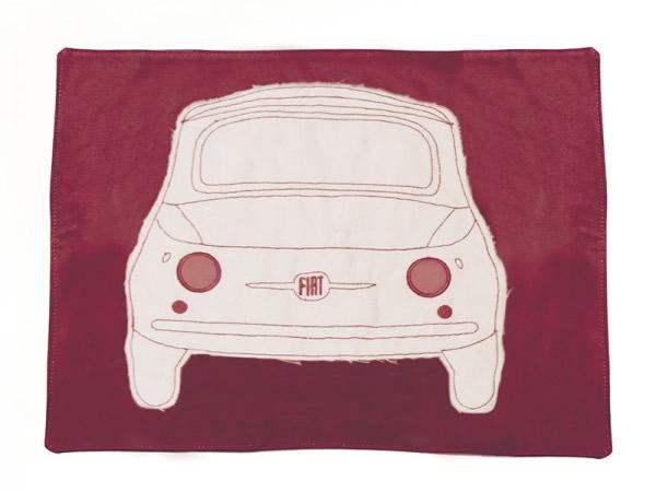 画像2: 4色展開 FIAT 500 ランチプレート プレースマット フィアット【カラー・ブルー】【カラー・レッド】【カラー・イエロー】【カラー・グリーン】【カラー・グレー】