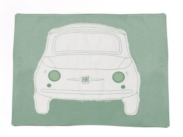画像3: 4色展開 FIAT 500 ランチプレート プレースマット フィアット【カラー・ブルー】【カラー・レッド】【カラー・イエロー】【カラー・グリーン】【カラー・グレー】