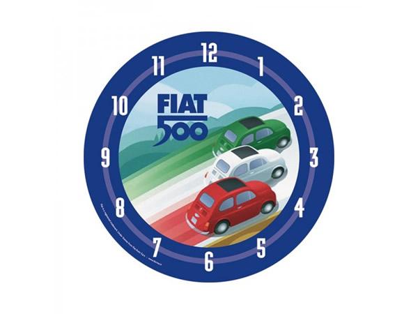 画像1: 6柄展開 FIAT 500 壁掛け時計 フィアット【カラー・ブルー】【カラー・イエロー】【カラー・ブラック】【カラー・レッド】