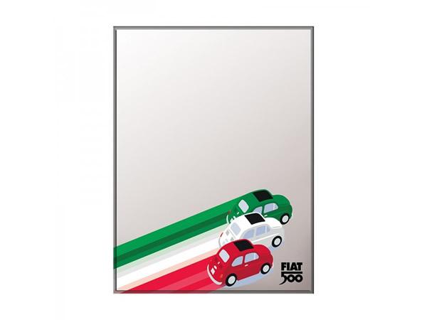 画像4: 4柄展開 FIAT 500 デザイン鏡 ミラー 20 x 30 cm フィアット【カラー・ブルー】【カラー・レッド】【カラー・イエロー】【カラー・ブラック】【カラー・グレー】【カラー・オレンジ】