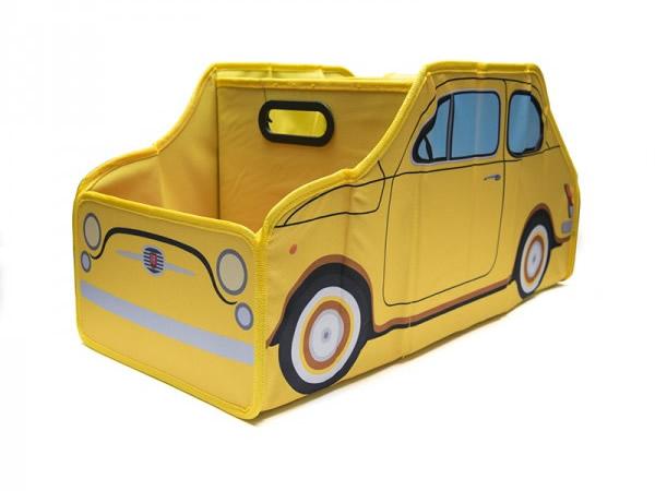 画像2: 3色展開 FIAT 収納ケース 60 x 30 x 30 cm フィアット【カラー・ブルー】【カラー・レッド】【カラー・イエロー】