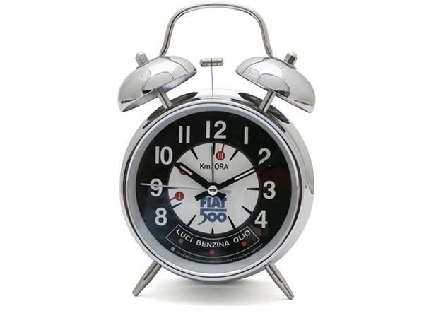 画像1: 4柄展開 FIAT 500 ベル付き目覚まし時計 フィアット【カラー・ブルー】【カラー・イエロー】【カラー・ブラック】【カラー・レッド】