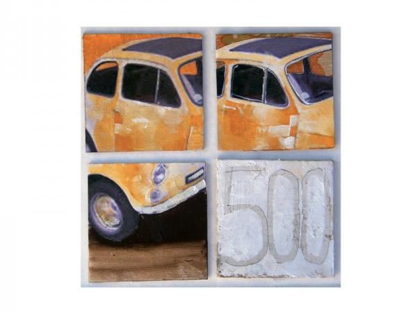 画像3: 3柄展開 FIAT 500 アートパネル キャンバスプリント  80 x 80 cm フィアット 【カラー・マルチ】