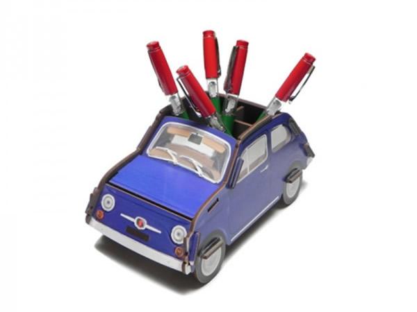 画像1: FIAT 500 ペン立て フィアット【カラー・ブルー】