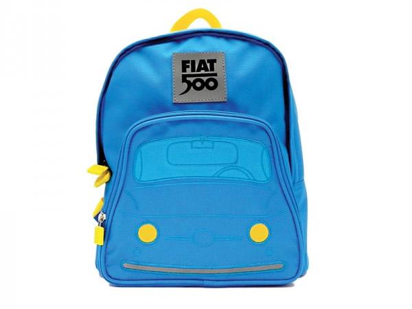 画像1: 2色展開 FIAT 500 子供用リュックサック バックパック フィアット【カラー・ブルー】【カラー・レッド】