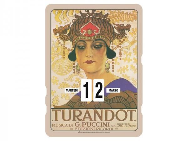 画像1: 万年カレンダー RICORDI - TURANDOT - イタリア インテリア【カラー・マルチ】