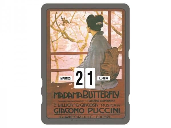 画像1: 万年カレンダー RICORDI - MADAMA BUTTERFLY - イタリア インテリア【カラー・マルチ】