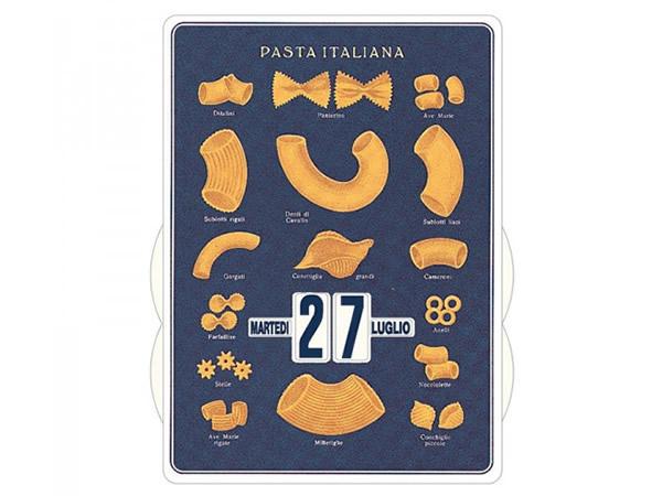 画像1: 万年カレンダー イタリアンパスタ ブルー PASTA ITALIANA BLU - イタリア インテリア【カラー・ブルー】【カラー・イエロー】