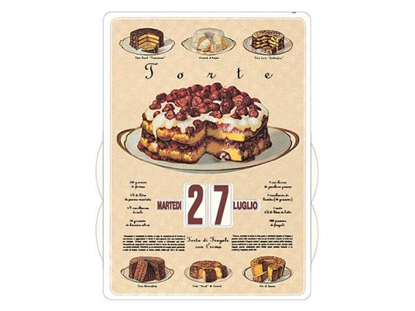 画像1: 万年カレンダー ケーキ TORTE - イタリア インテリア【カラー・イエロー】【カラー・マルチ】