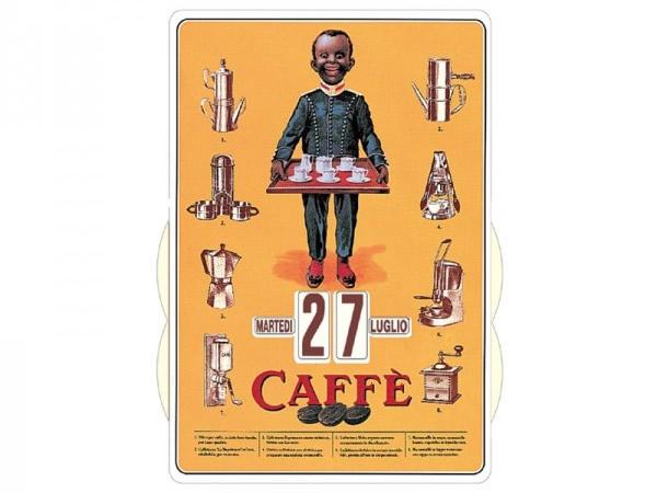 画像1: 万年カレンダー コーヒー CAFFE' - イタリア インテリア【カラー・オレンジ】【カラー・マルチ】