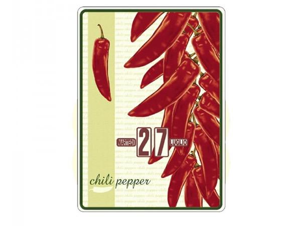 画像1: 万年カレンダー ペペロンチーニ CHILI PEPPER - イタリア インテリア【カラー・レッド】