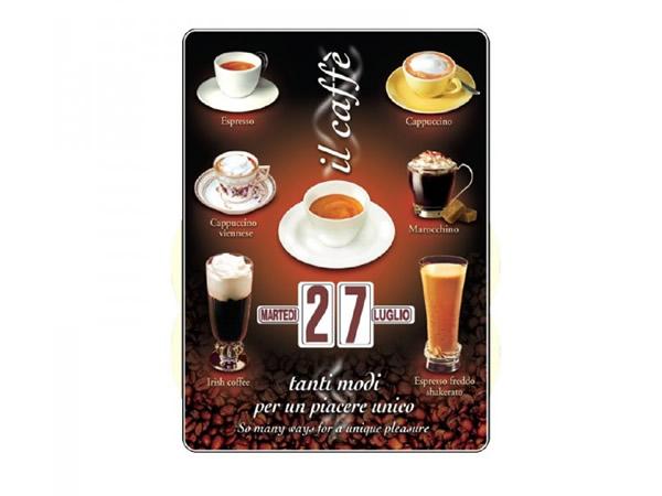 画像1: 万年カレンダー カフェ IL CAFFE' - イタリア インテリア【カラー・ブラック】【カラー・ブラウン】