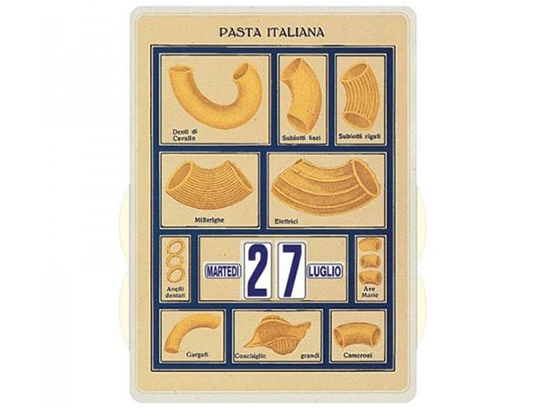 画像1: 万年カレンダー イタリアンパスタ ホワイト PASTA ITALIANA BIANCA - イタリア インテリア【カラー・ホワイト】【カラー・イエロー】