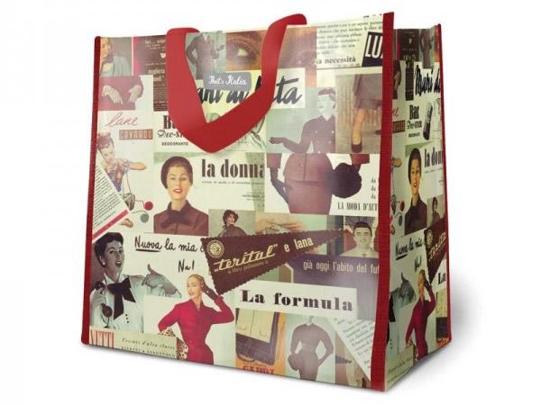 画像2: 4柄展開 イタリア アンティーク風ショッピングバッグ【カラー・マルチ】