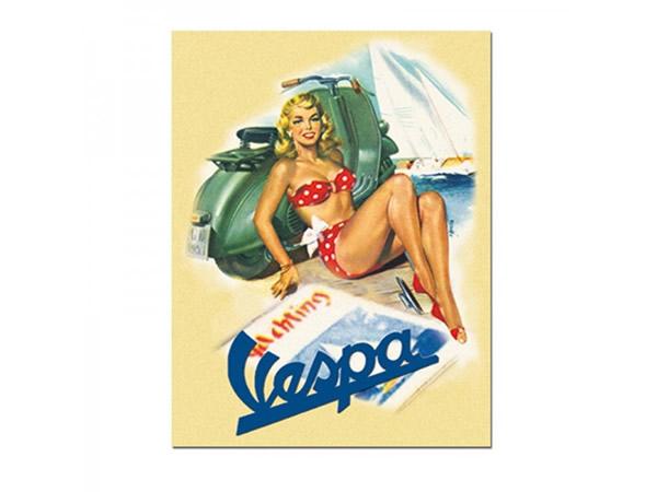 画像3: 3種展開 VESPA サインプレート ヴェスパ 30 x 40 cm【カラー・ブルー】【カラー・グリーン】【カラー・レッド】【カラー・イエロー】