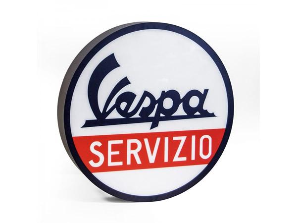 画像1: VESPA 電飾看板 ヴェスパ 径 50 cm 【カラー・ホワイト】【カラー・レッド】