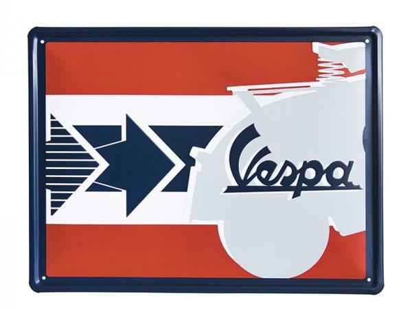 画像2: 3種展開 VESPA サインプレート ヴェスパ 30 x 40 cm【カラー・ブルー】【カラー・グリーン】【カラー・レッド】【カラー・イエロー】