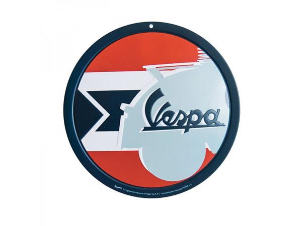 画像2: 3種展開 VESPA 円形サインプレート ヴェスパ 径15 cm【カラー・ブルー】【カラー・グリーン】【カラー・レッド】【カラー・イエロー】