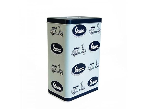 画像1: 3種展開 VESPA 缶ケース ヴェスパ 11 x 7 x 18 cm【カラー・ブルー】【カラー・グリーン】【カラー・レッド】【カラー・イエロー】
