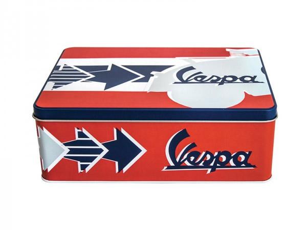 画像2: 3種展開 VESPA 缶ケース ヴェスパ 24 x 17 x 9 cm【カラー・ブルー】【カラー・グリーン】【カラー・レッド】【カラー・イエロー】