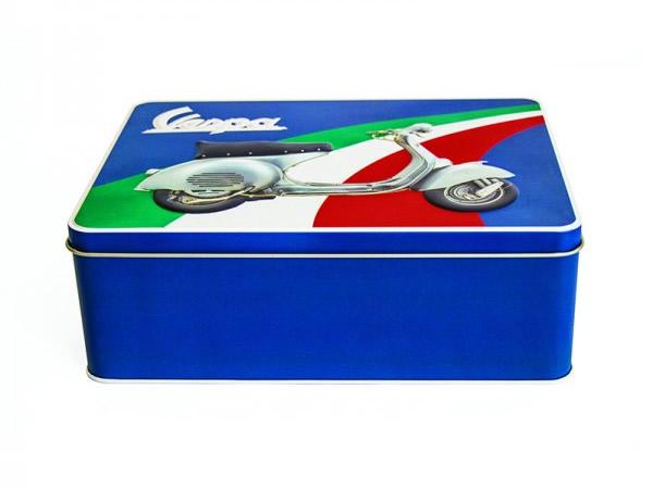 画像3: 3種展開 VESPA 缶ケース ヴェスパ 24 x 17 x 9 cm【カラー・ブルー】【カラー・グリーン】【カラー・レッド】【カラー・イエロー】