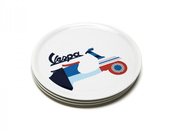 画像2: 4種展開 VESPA お皿 径32cm ヴェスパ【カラー・ブルー】【カラー・ホワイト】【カラー・マルチ】