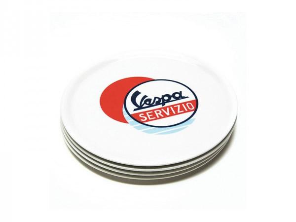 画像4: 4種展開 VESPA お皿 径32cm ヴェスパ【カラー・ブルー】【カラー・ホワイト】【カラー・マルチ】