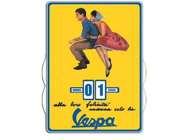 画像1: 万年カレンダー ヴェスパ VESPA - FELICITA' - イタリア インテリア【カラー・イエロー】【カラー・マルチ】
