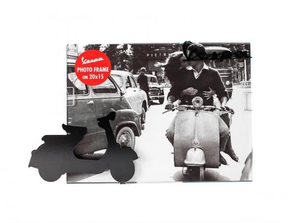 画像1: 3柄展開 VESPA 50-60年代 フォトフレーム ヴェスパ 20 x 15 cm【カラー・ブラック】【カラー・ホワイト】【カラー・イエロー】