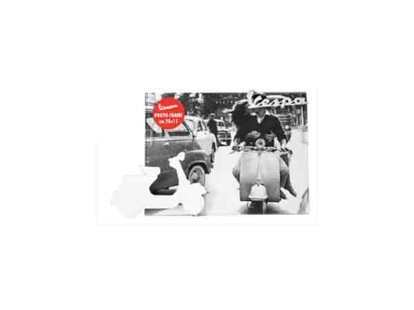 画像2: 3柄展開 VESPA 50-60年代 フォトフレーム ヴェスパ 20 x 15 cm【カラー・ブラック】【カラー・ホワイト】【カラー・イエロー】