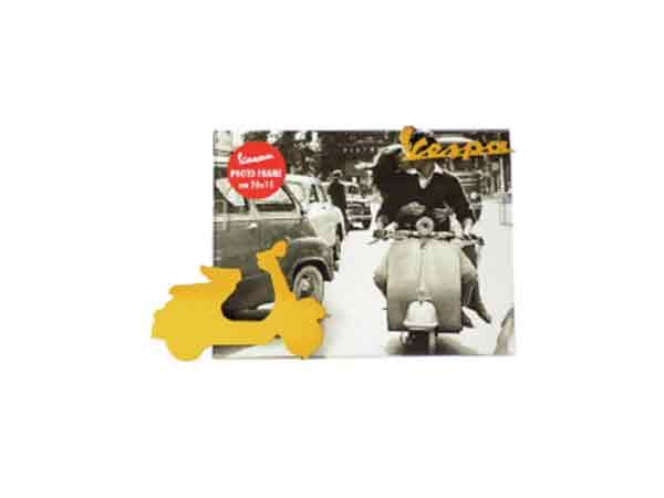 画像3: 3柄展開 VESPA 50-60年代 フォトフレーム ヴェスパ 20 x 15 cm【カラー・ブラック】【カラー・ホワイト】【カラー・イエロー】