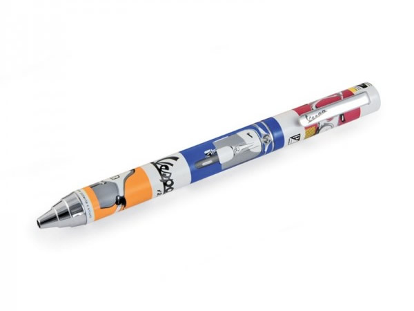 画像3: 4柄展開 VESPA ケース付きボールペン ヴェスパ【カラー・ブルー】【カラー・イエロー】【カラー・レッド】【カラー・マルチ】