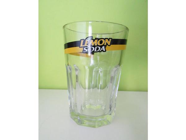 画像1: 【二点限り】イタリア レモンソーダ LEMON SODA のオリジナルグラス 【カラー・イエロー】