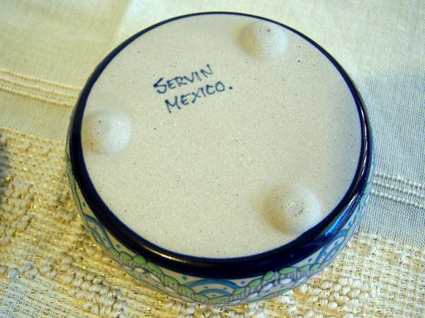 画像5: 一つ一つが手塗りの陶製小物入れ 【カラー・ブルー】【カラー・グリーン】【カラー・ホワイト】