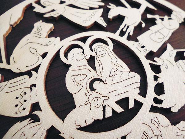 画像3: 【一点限り】イタリア・クリスマスデコレーション☆イタリア製木製 【カラー・ブラウン】