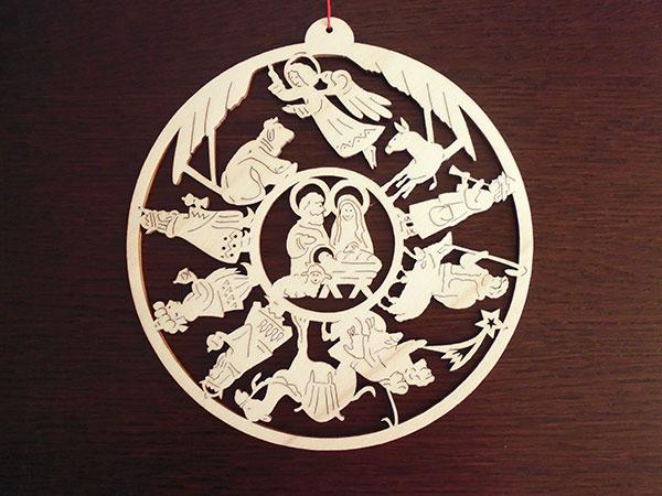 画像1: 【一点限り】イタリア・クリスマスデコレーション☆イタリア製木製 【カラー・ブラウン】