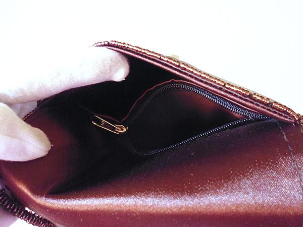 画像4: 上品な輝きマザーオブパールの刺繍バッグ 【カラー・ブラウン】