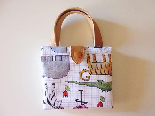 画像3: 可愛い動物柄 イタリアのレザー使いお買い物バッグ  【カラー・マルチ】