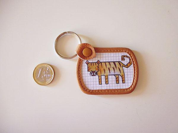 画像2: 可愛い動物柄 イタリアのレザー使いキーホルダー  【カラー・マルチ】