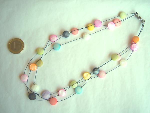 画像4: 上品ヴェネツィアングラス 控えめトーンの3連ネックレス 【カラー・マルチ】